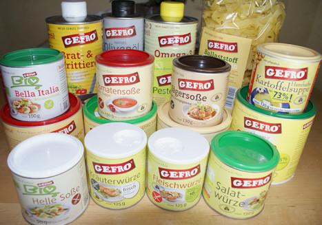 Kochen mit Produkten und dem Kochbuch von Gefro